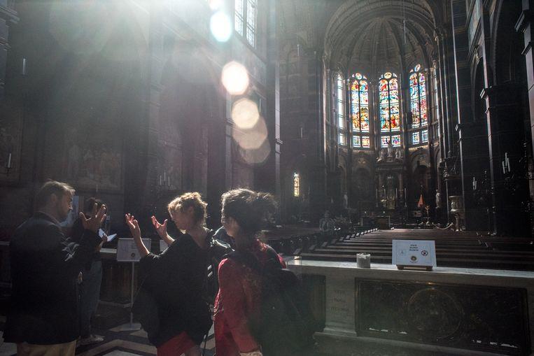 De Nicolaasbasiliek, gebouwd in de triomfantalistische stijl van de katholieke emancipatie Beeld Joris Van Gennip