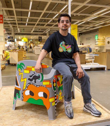 Eindhovense kunstenaar gaat samenwerking aan met Ikea: 'Jungle-achtig, met verwijzing naar de straat'