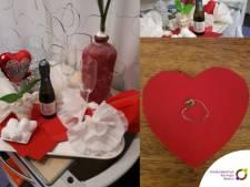 Tim vraagt zijn vriendin met een geknutselde ring ten huwelijk, terwijl hij op de intensive care ligt van het SKB
