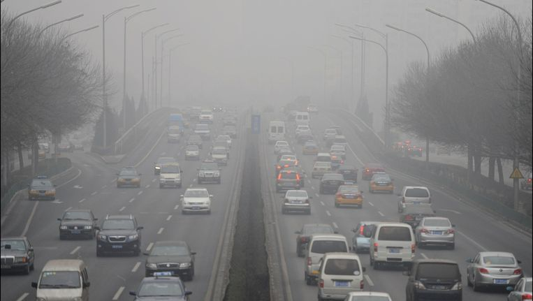 De luchtvervuiling in Bijjing neemt zorgwekkende proporties aan. Beeld PHOTO_NEWS