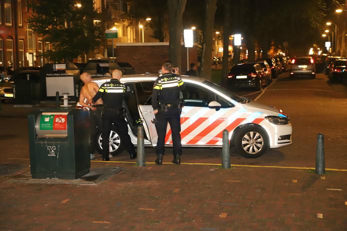 Zaterdagavond 15 september is er op het Paul Krugerplein in Den Haag een man aangehouden.