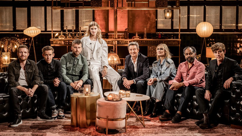 Cleymans & Van Geel, Tourist LeMC, Emma Bale, Willy Sommers, Geike Arnaert, RonnyMosuse en Bert Ostyn waren dit jaar de hoofdrol-spelers in 'Liefde voor muziek'. Beeld VTM