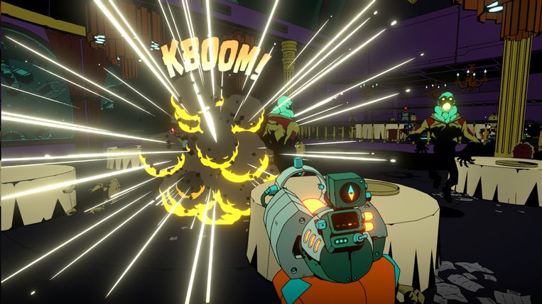 Ook 'Void Bastards' vertoont een grote visuele verbondenheid met strips.  Beeld Humble Bundle