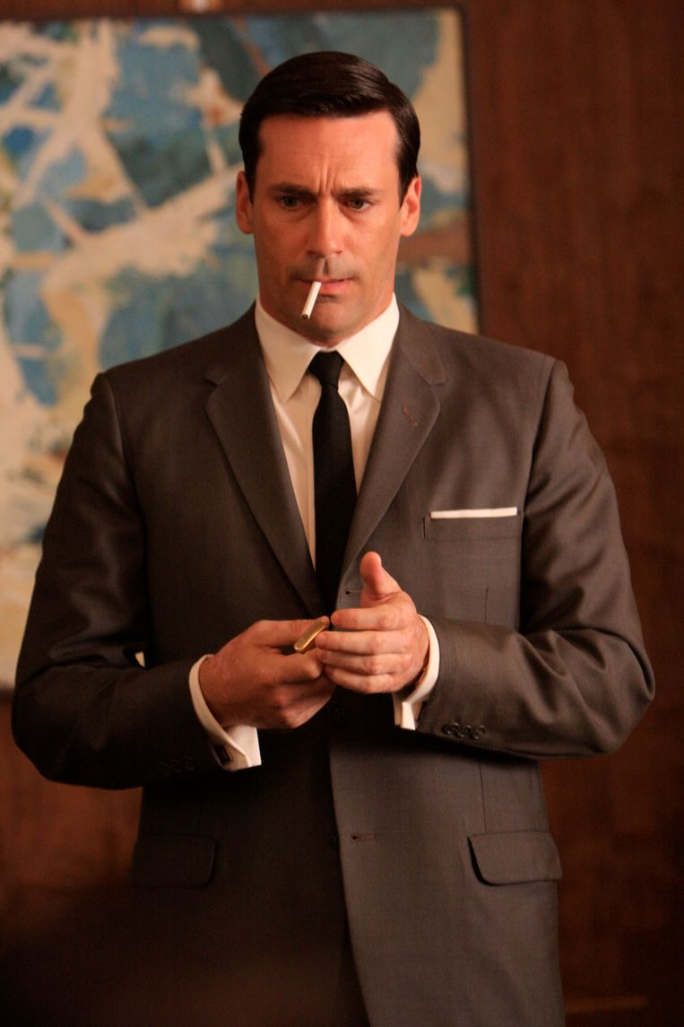 Naar 'Mad Men' kijken is een beproeving voor ex-rokers. Beeld rv