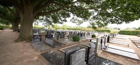 Bloemen gestolen van graven op Enterse begraafplaats