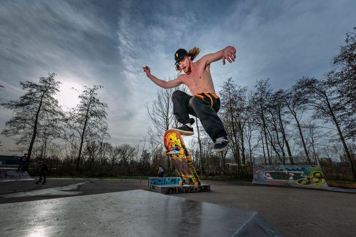 Skater Silvan Leukfeldt.