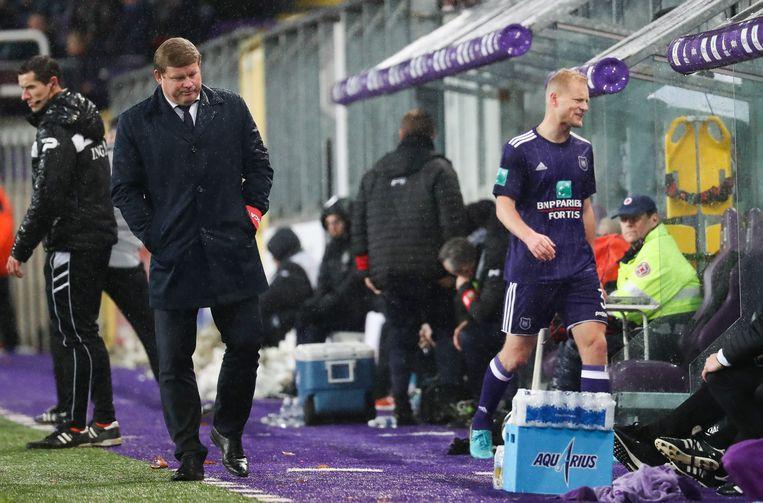 Deschacht over Anderlecht-coach Hein Vanhaezebrouck (hier in 2017): 'Als trainer is hij een topper, maar als mens heeft  Vanhaezebrouck mij ontgoocheld.' Beeld BELGA