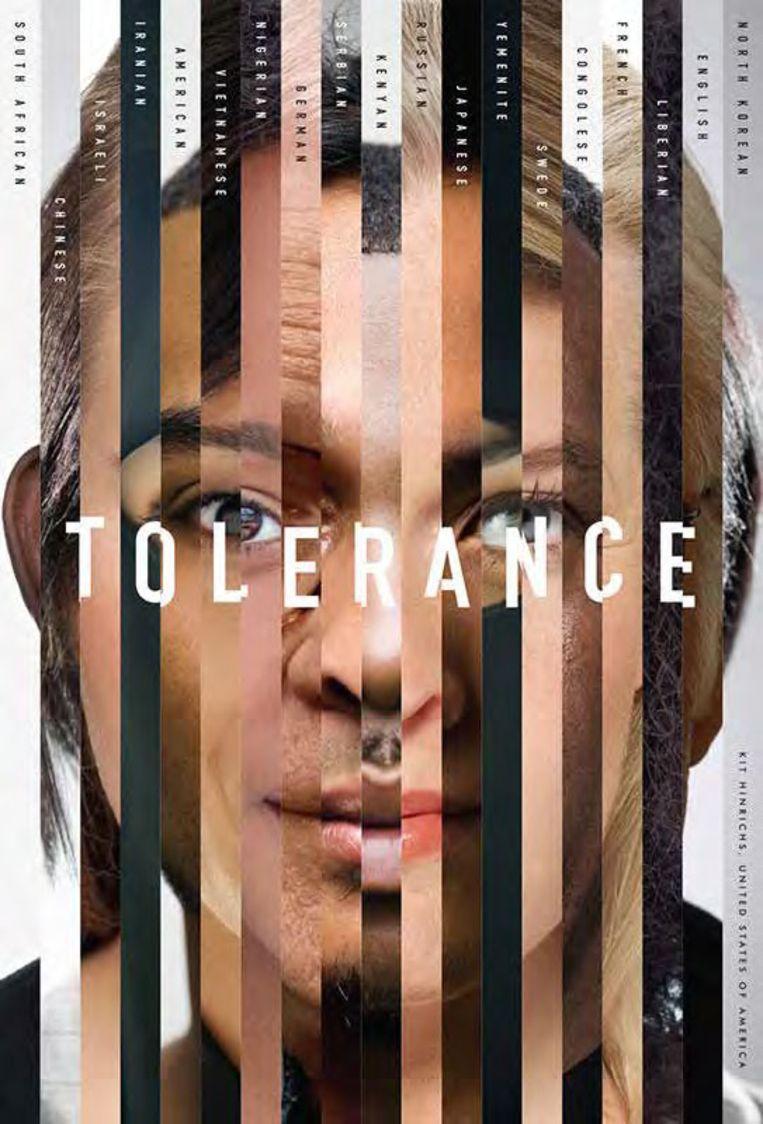 Ontwerp Kit Hinrichs. Tolerance Poster Show,  2017. Beeld