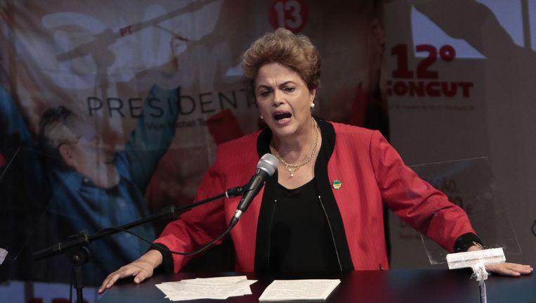 De Braziliaanse president Dilma Rousseff. Beeld AFP