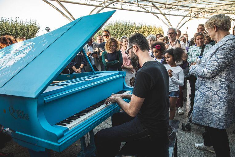 Vorig jaar stond er een 1-2-3-piano aan het Sint-Pietersstation