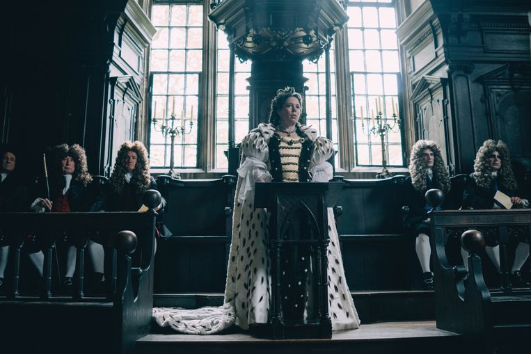 Olivia Colman in 'The Favourite'.  Beeld AP