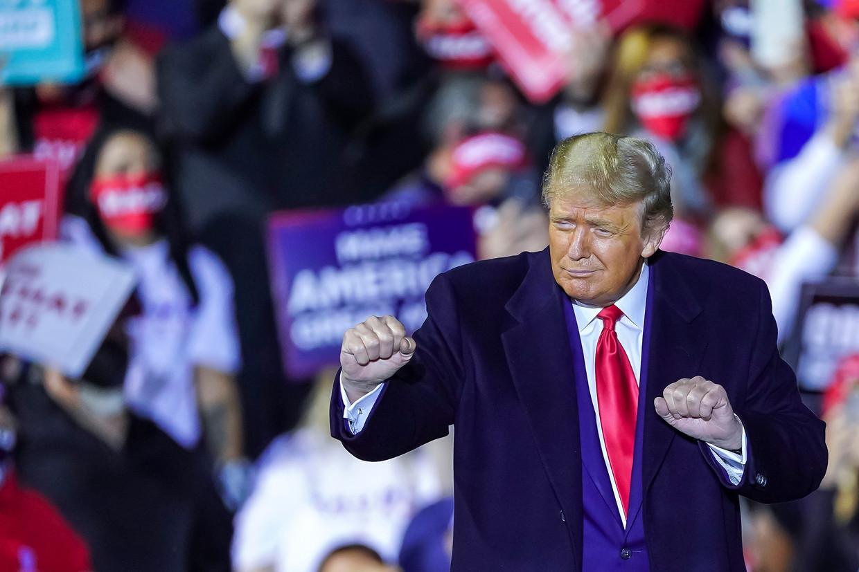 Door de laatste opsteker voor Trump in Florida en Arizona zal zijn vertrouwen zeker groeien.  Beeld EPA
