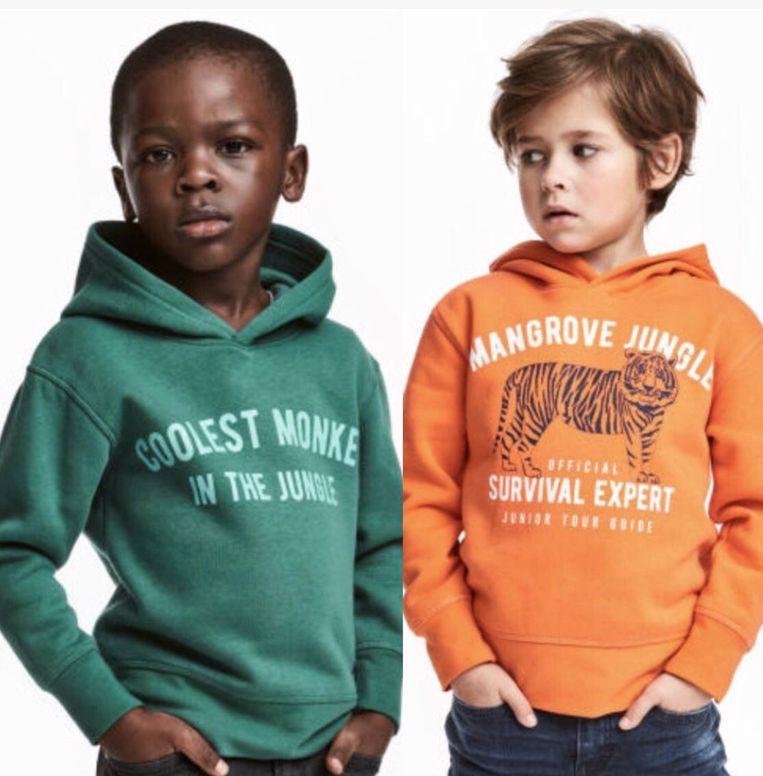 Ophef over jongen in apentrui H&M Beeld H&M