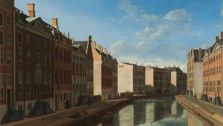 De Gouden Bocht als nieuwbouw, door Gerrit Berckheyde (1685) Beeld Rijksmuseum