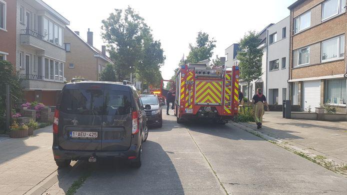 De brandweer op interventie in de Stokkellaan in Mariakerke.