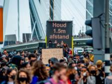 Politie grijpt in na afbreken Black Lives Matter-protest in Rotterdam: 'Je voelt de tranen en boosheid'