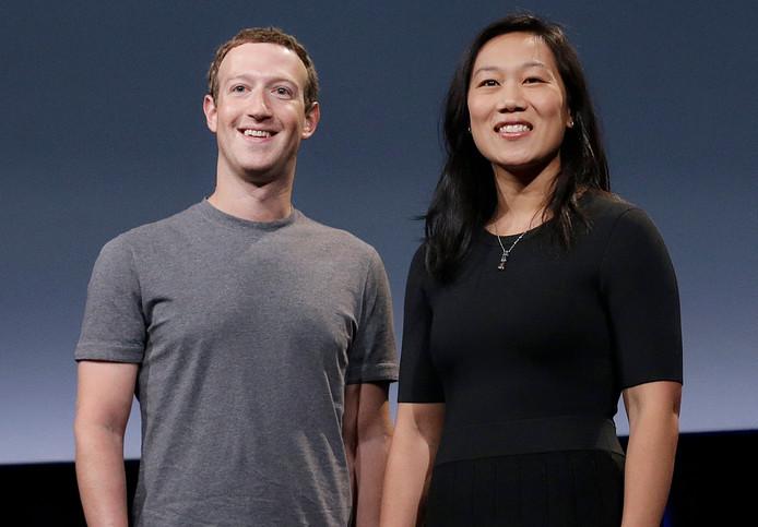 Mark Zuckerberg et sa femme, Priscilla Chan.