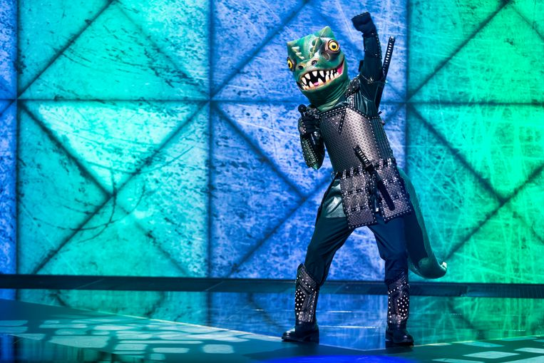 De dino in The Masked Singer Beeld RTL4