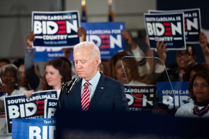 Joe Biden op een bijeenkomst in South Carolina.