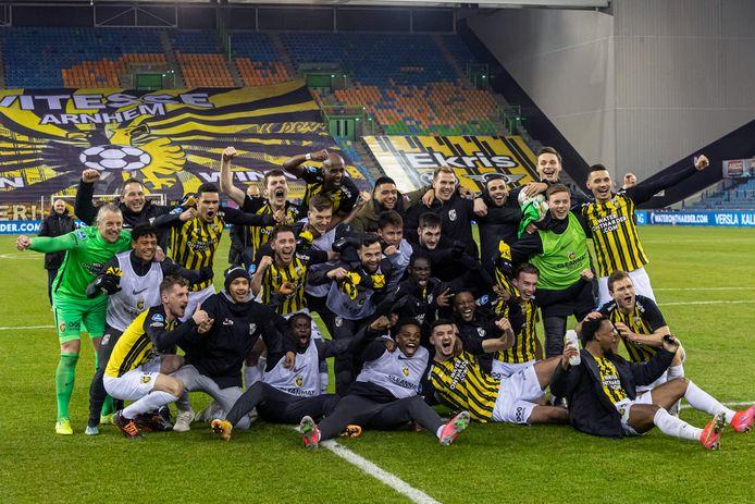 Vitesse na de wedstrijd tegen VVV-Venlo, die ze wonnen met 2-0.