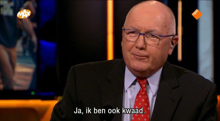 De Amerikaanse ambassadeur Pete Hoekstra bij talkshow Op1. Beeld Op1