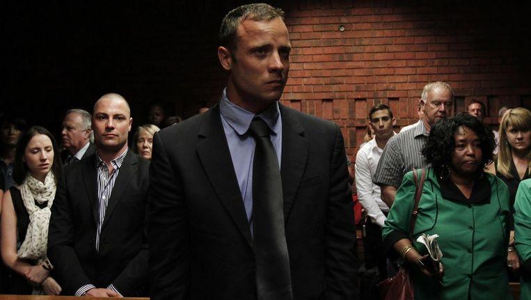 Pistorius vanochtend in de rechtbank. Beeld reuters