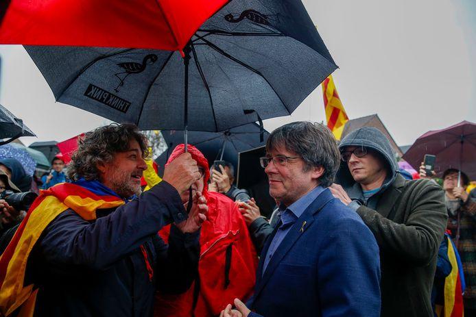 Carles Puigdemont eerder deze maand in Waterloo.