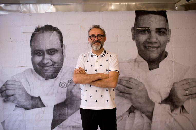 Massimo Bottura, vorig jaar in zijn Refettorio Gastromotiva in Rio de Janeiro. Beeld AP