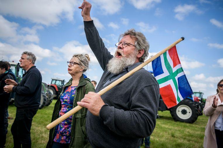 Middelstum, Groningen, mei 2019. Een van de vele boerenprotesten van de afgelopen jaren. Beeld Kees van de Veen