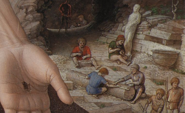 Detail uit: Andrea Mantegna, Christus de verlosser, 1488-1500. Beeld Statens Museum Kopenhagen