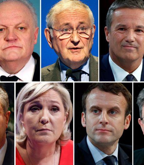Onze candidats pour la course à l'Elysée
