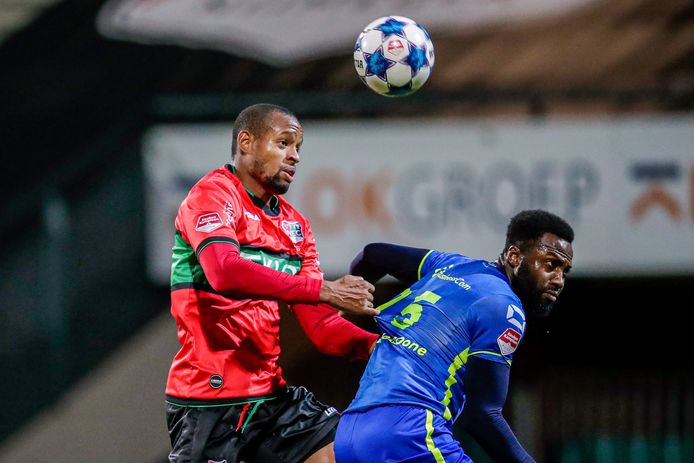 19-12-2020: Voetbal: NEC v TOP Oss: Nijmegen (L-R) Rangelo Janga of NEC , Lorenzo Pique of TOP Oss
