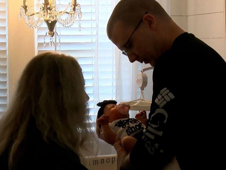 Baby Sawyer werd geboren na embryo-adoptie