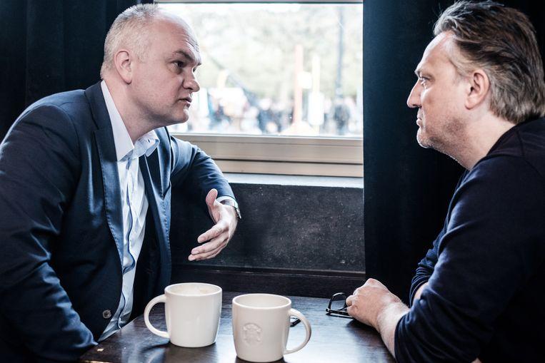 Björn Rzoska: 'Ik wil geen moddergevecht. Ik wil dat de N-VA de status quo doorbreekt.' Beeld Bob Van Mol
