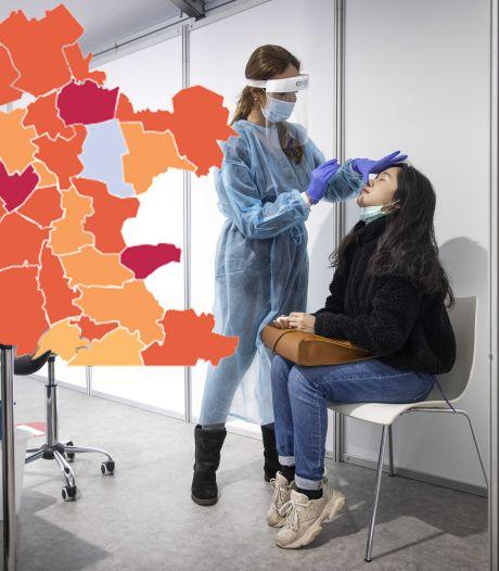 KAART | Donkerrode vlek in Gelderland verdwenen, Staphorst nieuwe coronakoploper