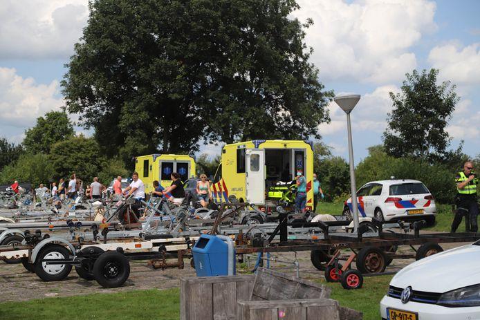 Hulpdiensten waren snel ter plaatse om de gewonden te helpen.