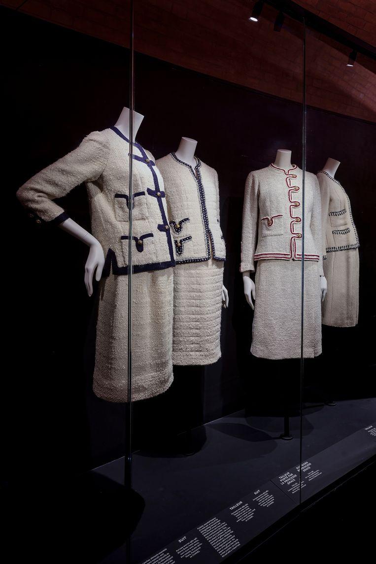 De Chanel-expositie in museum Galliera in Parijs. Beeld Olivier Saillant