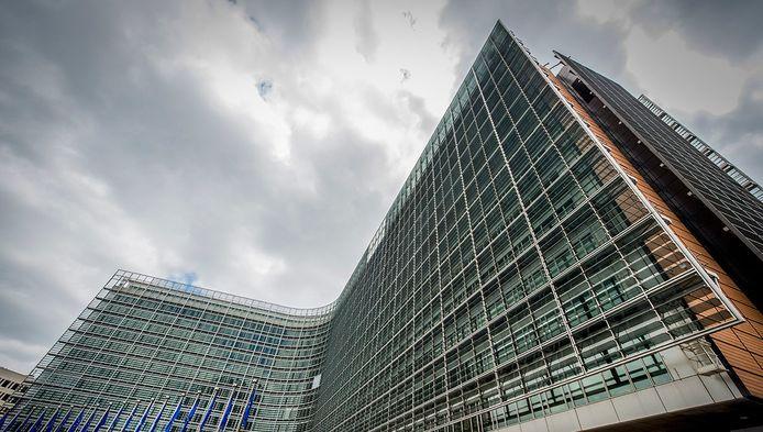 Het Berlaymont gebouw in Brussel. Dit is het hoofdkantoor van de Europese Commissie.