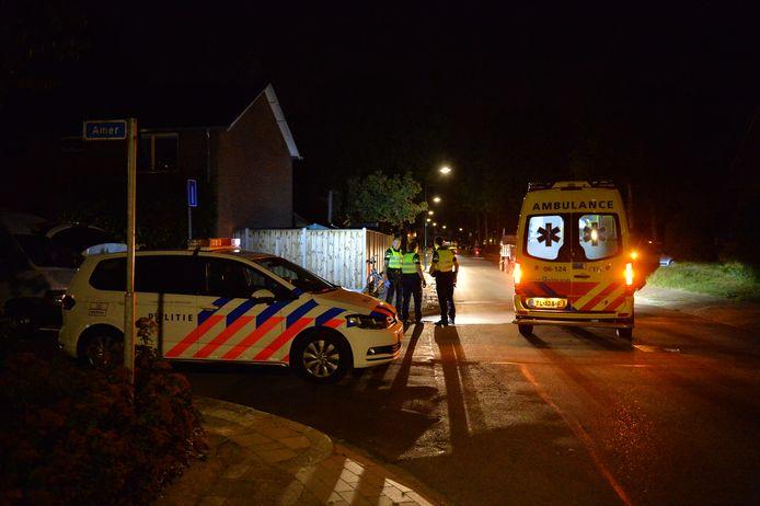 De gewonde is in slechte toestand met de ambulance naar het ziekenhuis vervoerd.