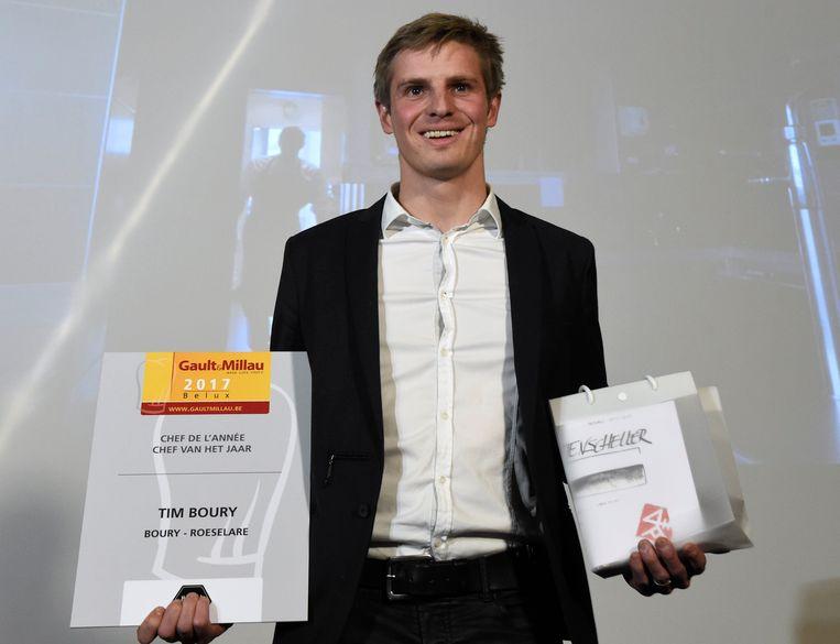 Gault&Millau heeft Tim Boury, van restaurant Boury in Roeselare, bekroond tot Chef van het Jaar.