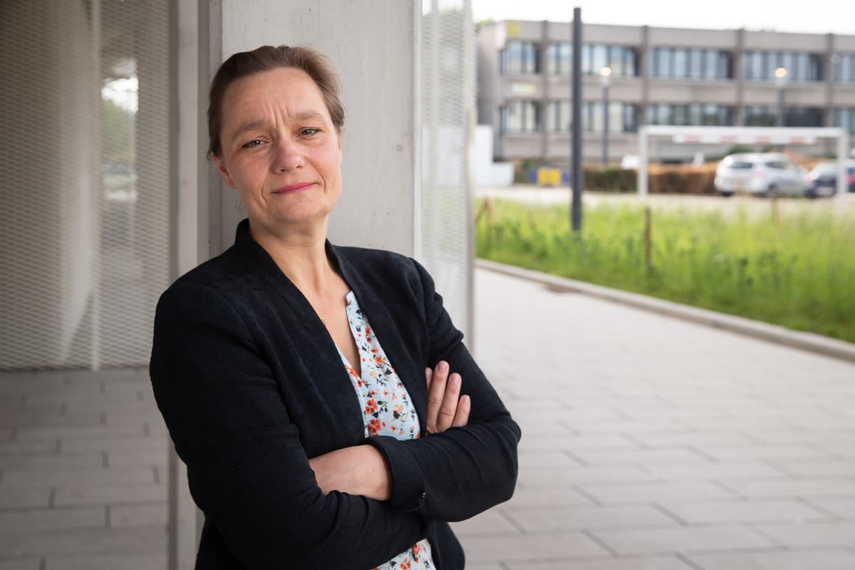 Professor Erika Vlieghe, hoofd van de GEES. Beeld BELGA
