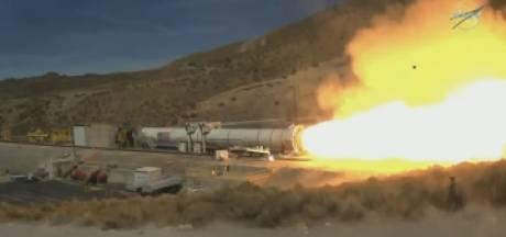 Test spectaculaire de la fusée prévue pour une mission sur la Lune en 2024