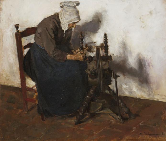 Op het schilderij 'Spinster te Dongen' van Max Liebermann is Pietje Verhoef afgebeeld die ook wel de 'heks van Dongen werd genoemd'