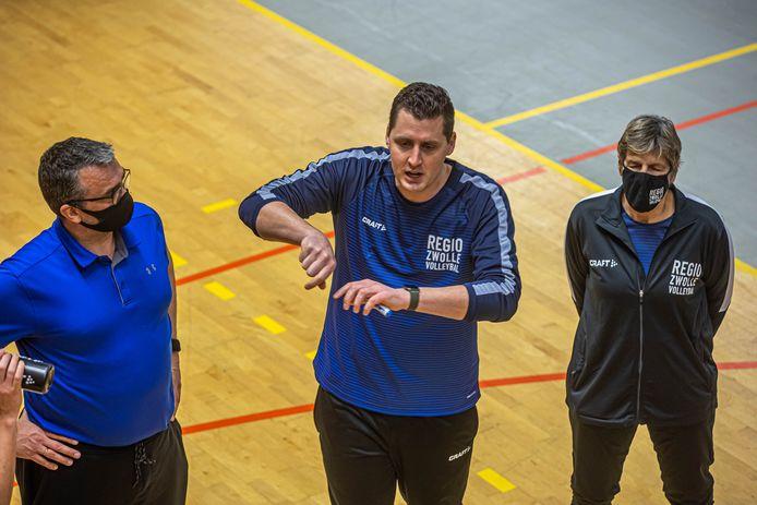 Coach Eric Meijer kreeg met Regio Zwolle in Borne de eerste nederlaag van het seizoen te verwerken.