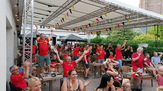 """Supporters in De Rijkswacht schreeuwen Rode Duivels naar winst: """"Geweldige sfeer en op naar meer"""""""