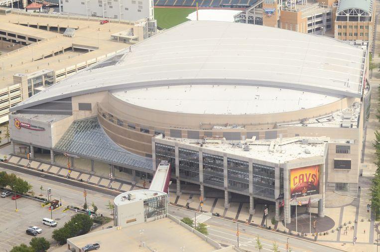 De Quicken Loans Arena in Cleveland, Ohio. Beeld Creative Commons 2.0, Erik Drost