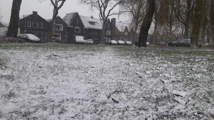 In Terneuzen is de sneeuw ook al gearriveerd