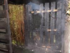 Schuttingbrand in Bunschoten vermoedelijk aangestoken
