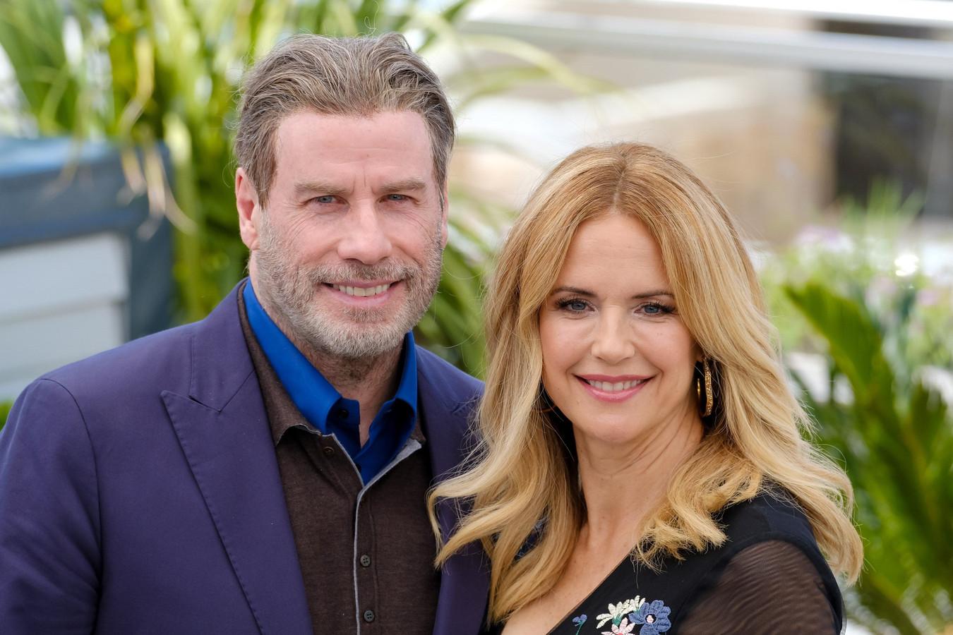 John Travolta en zijn overleden echtgenote Kelly Preston in 2018