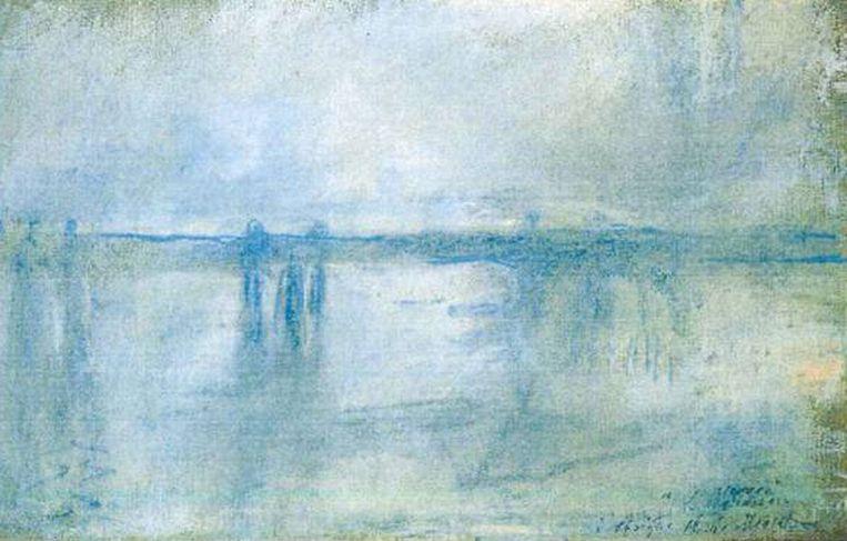 Claude Monet: 'Charing Cross Bridge, London' (1901)<br /><br /><strong>De schilderijen die vorig jaar uit de Kunsthal in Rotterdam zijn gestolen, zijn hoogstwaarschijnlijk allemaal verbrand. Het gaat om zeven schilderijen met een geschatte waarde van 18 miljoen euro van onder anderen Monet, Matisse, Picasso en Gauguin. De kunstwerken zijn verbrand in de de woning van de moeder van hoofdverdachte Radu Dogaru in het Roemeense dorpje Carcaliu</strong> Beeld AP